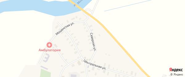 Северная улица на карте села Федово с номерами домов