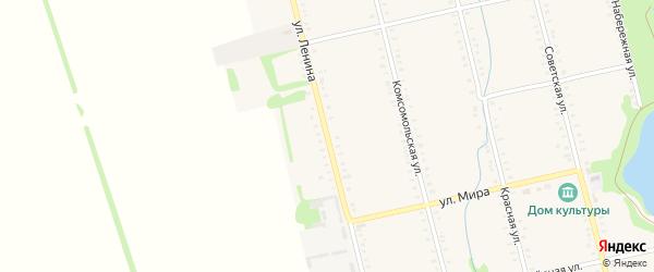 Улица Ленина на карте Большесидоровского села с номерами домов