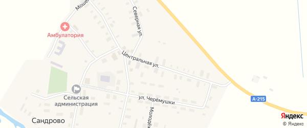 Центральная улица на карте села Федово с номерами домов