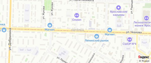 Улица Чкалова на карте Ярославля с номерами домов