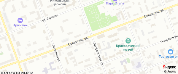 Советская улица на карте поселка Кегострова с номерами домов