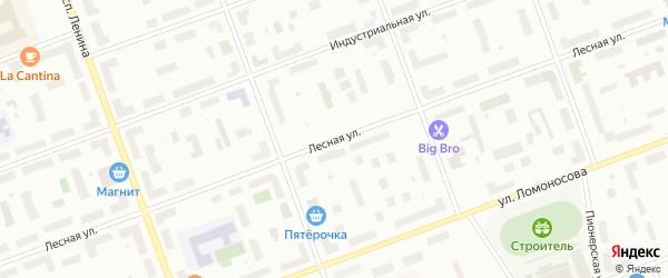 Лесная улица на карте села Неноксы с номерами домов