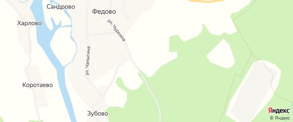 Карта деревни Сандрово в Архангельской области с улицами и номерами домов