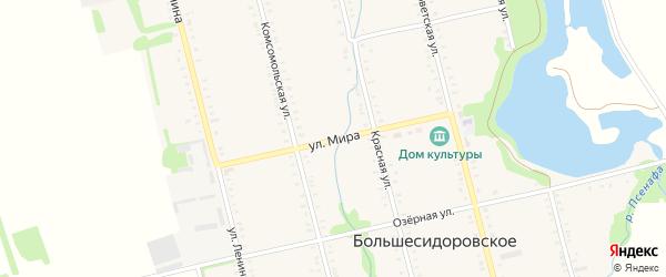 Улица Мира на карте Большесидоровского села с номерами домов
