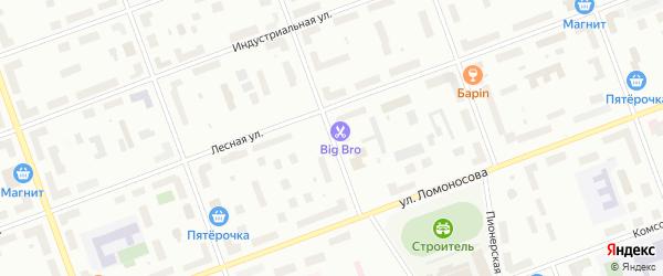 Профсоюзная улица на карте Северодвинска с номерами домов