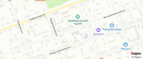 Республиканская улица на карте Северодвинска с номерами домов