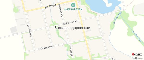 Дорога А/Д подъезд к с.Большесидоровскому на карте Большесидоровского села с номерами домов