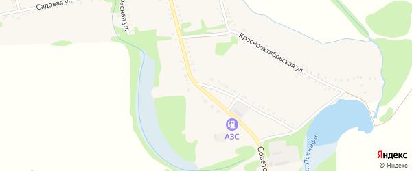 Советская улица на карте Большесидоровского села с номерами домов