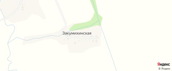 Улица Денисово на карте Закумихинской деревни с номерами домов