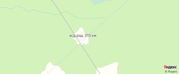 Карта железнодорожного разъезда 315 км в Архангельской области с улицами и номерами домов