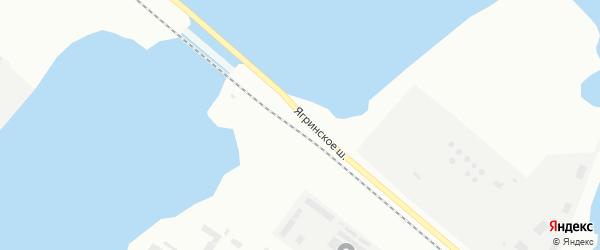 Ягринское шоссе на карте Северодвинска с номерами домов