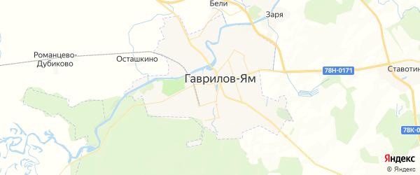 Карта Гаврилова-Яма с районами, улицами и номерами домов