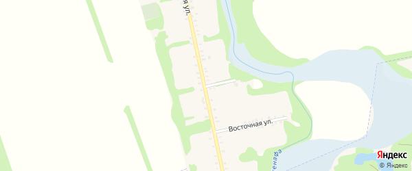 Восточный переулок на карте Большесидоровского села с номерами домов