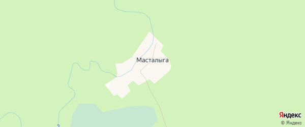 Карта деревни Масталыги в Архангельской области с улицами и номерами домов