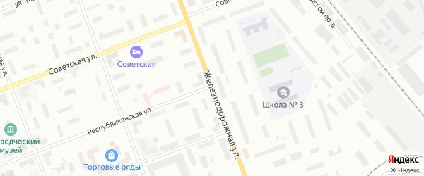 Железнодорожная улица на карте Северодвинска с номерами домов