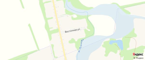 Восточная улица на карте Большесидоровского села с номерами домов