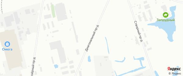 Диагональный проезд на карте Северодвинска с номерами домов