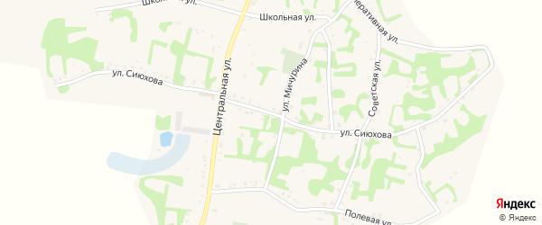 Улица Сиюхова на карте аула Джамбичи с номерами домов