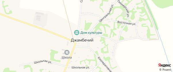 Центральная улица на карте аула Джамбичи с номерами домов