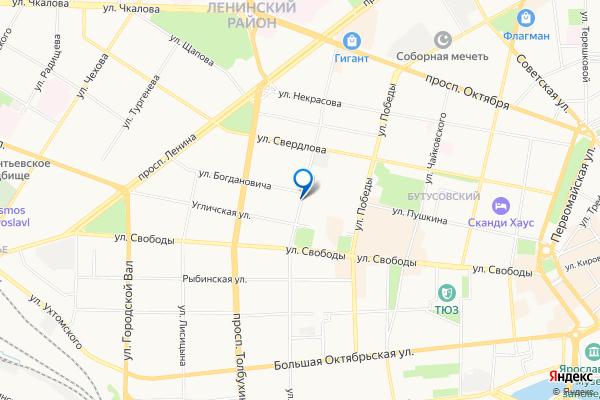 Ярославль улица Володарского, 1 7 на карте: дом