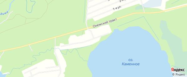 СНТ Малиновка на карте Северодвинска с номерами домов