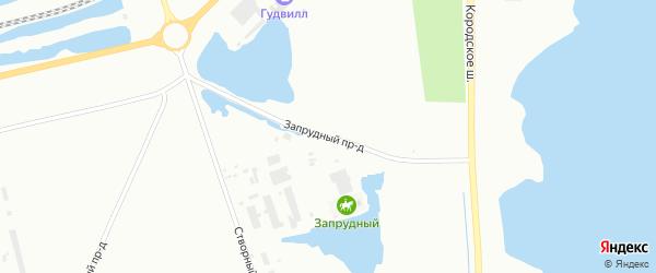 Запрудный проезд на карте Северодвинска с номерами домов