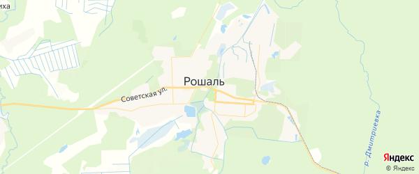 Карта Рошаля с районами, улицами и номерами домов: Рошаль на карте России