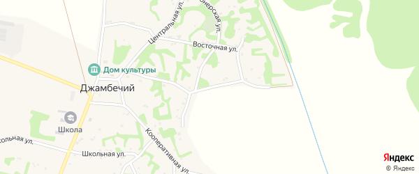 Улица Андрухаева на карте аула Джамбичи с номерами домов