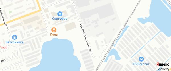 Промышленный проезд на карте Северодвинска с номерами домов