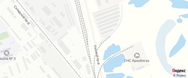 Узловой проезд на карте Северодвинска с номерами домов