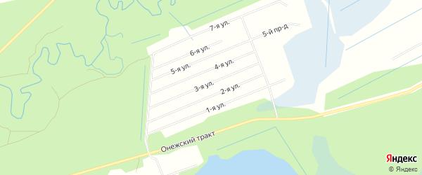 СНТ НАДЕЖДА на карте Северодвинска с номерами домов