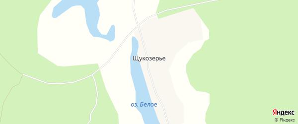 Карта села Щукозерья в Архангельской области с улицами и номерами домов