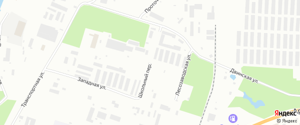 Школьный переулок на карте Северодвинска с номерами домов