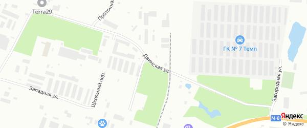 Двинская улица на карте Северодвинска с номерами домов