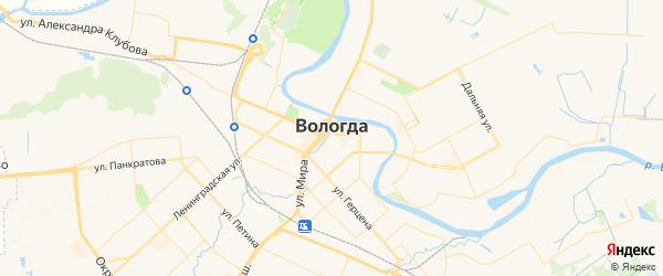 Карта Вологды с районами, улицами и номерами домов
