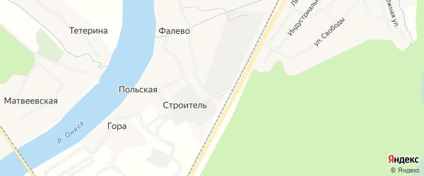 Карта деревни Гора в Архангельской области с улицами и номерами домов