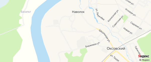 Карта деревни Наволока (Оксовский с/с) в Архангельской области с улицами и номерами домов
