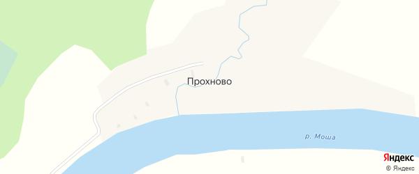 Улица Мышелово на карте деревни Прохново с номерами домов