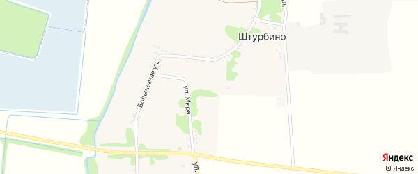 Улица Мира на карте села Штурбино с номерами домов