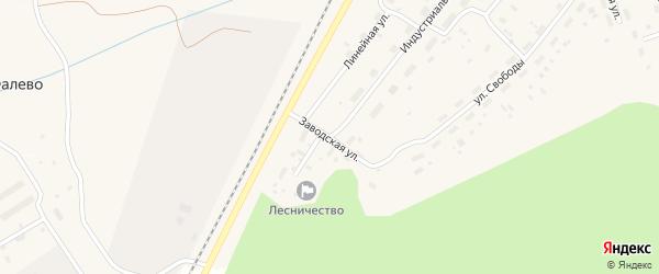 Заводская улица на карте Оксовский поселка с номерами домов
