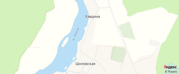 Карта деревни Хавдина в Архангельской области с улицами и номерами домов