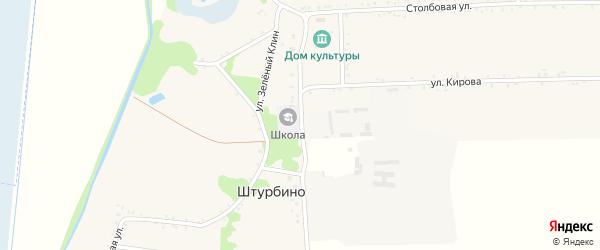 Красная улица на карте села Штурбино с номерами домов