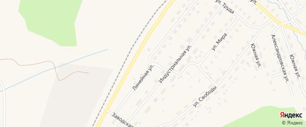 Линейная улица на карте Оксовский поселка с номерами домов