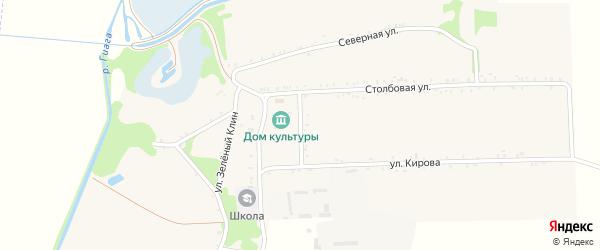 Дорога А/Д Гиагинская-Штурбино на карте села Штурбино с номерами домов