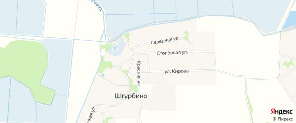 Карта села Штурбино в Адыгее с улицами и номерами домов