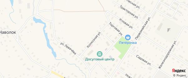 Колхозная улица на карте Оксовский поселка с номерами домов