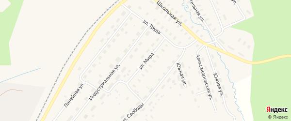 Улица Мира на карте Оксовский поселка с номерами домов