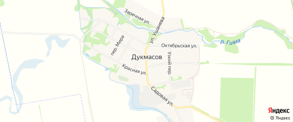 Карта хутора Дукмасов в Адыгее с улицами и номерами домов