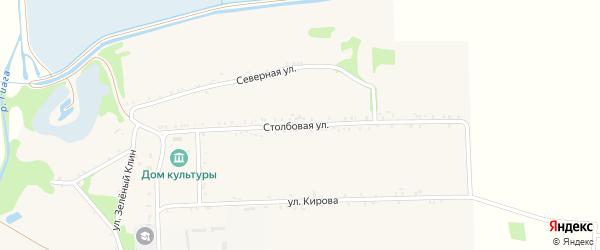 Столбовая улица на карте села Штурбино с номерами домов