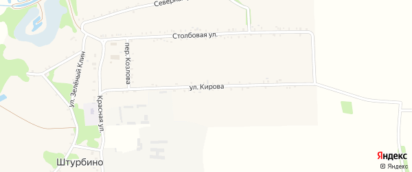Улица Кирова на карте села Штурбино с номерами домов